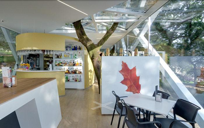 Interior cafetería Ferradura. Santiago de Compostela. Acceso Street View