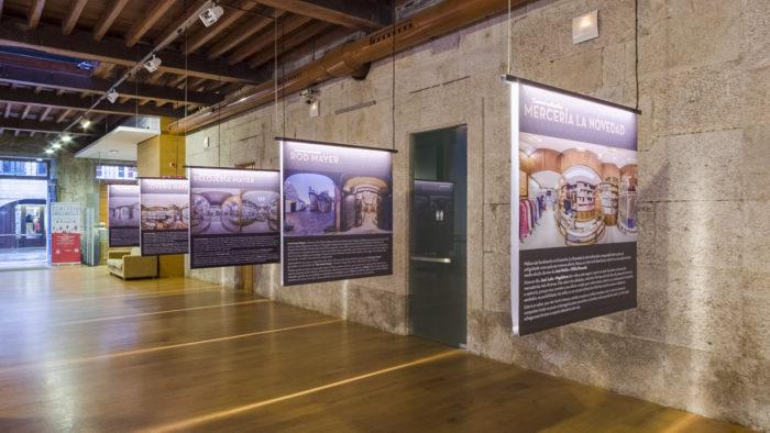 Portada de inicio á visita virtual da exposición De tendas. O comercio emblema dunha cidade 2017