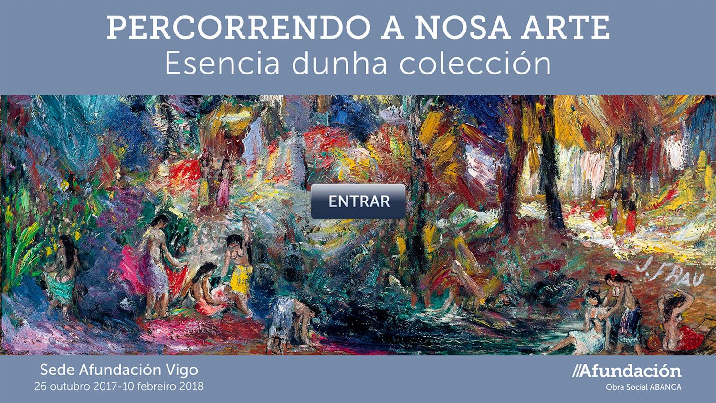 Portada da visita virtual percorrendo a nosa arte. Afundación-Abanca