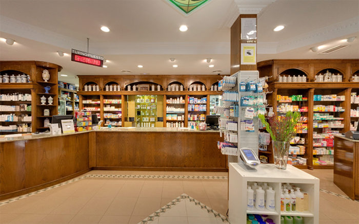 Portada visita virtual Street View da farmacia Fernandez San Mamed, Ribeira