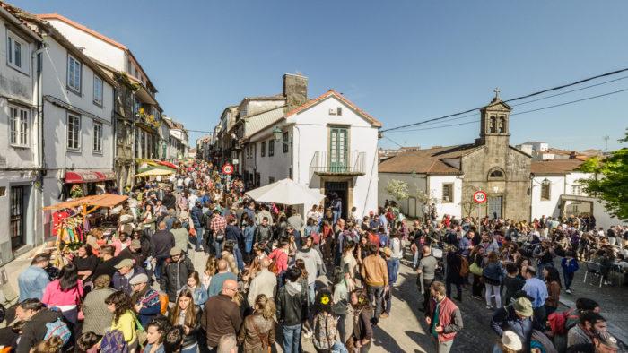 Portada da visita virtual da Feira da primavera-Barrio de San Pedro-Santiago de Compostela