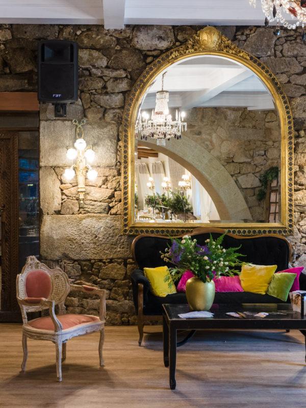 Fotografía de interiorismo-Sala de estar Salón de eventos-Hotel Pazo do Tambre-Noia