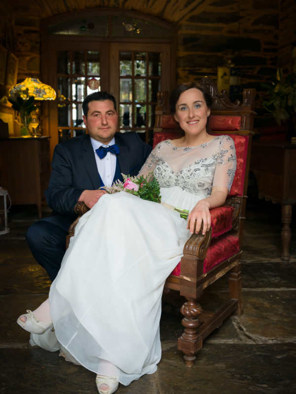 Fotografía de matrimonio-amor de parella-Pazo de Andeade