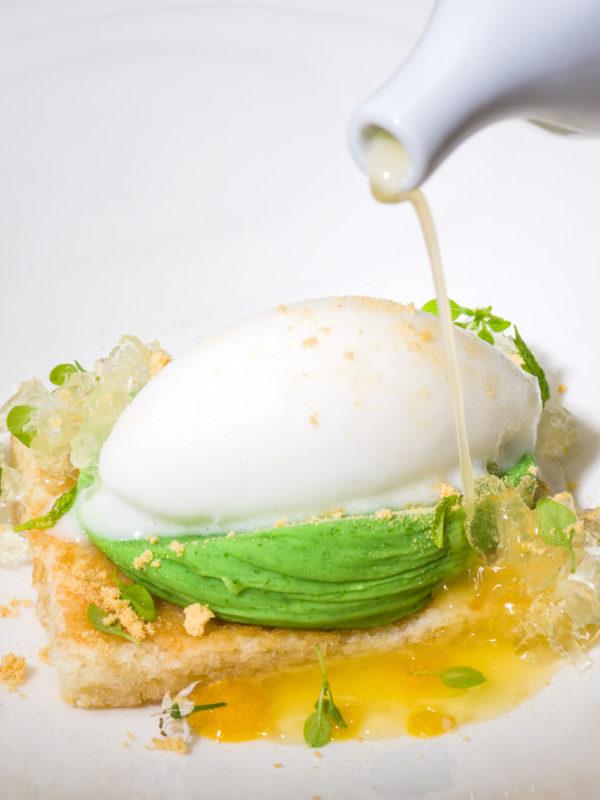 Fotografía do empratado dunha sobremesa do restaurante A Maceta