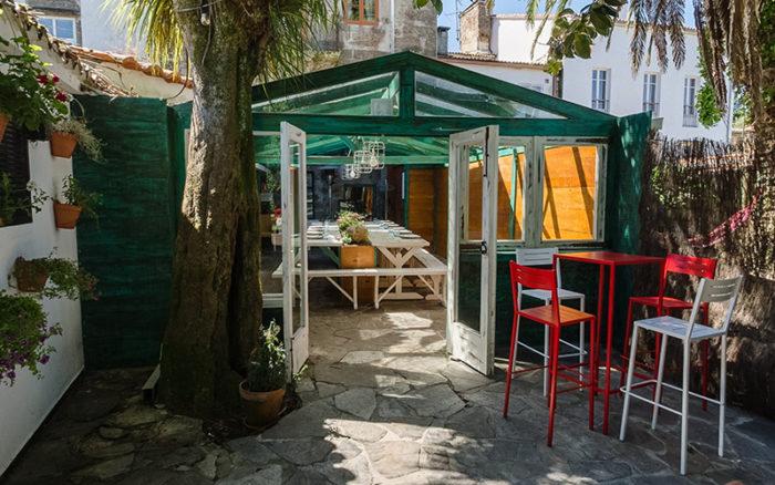Botón play visita Street view restaurante A Horta do Obradoiro