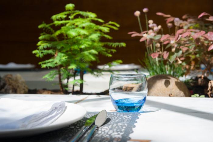 Fotografía de interiores-Detalle mesa restaurante A Horta d´Obradoiro-Santiago de Compostela