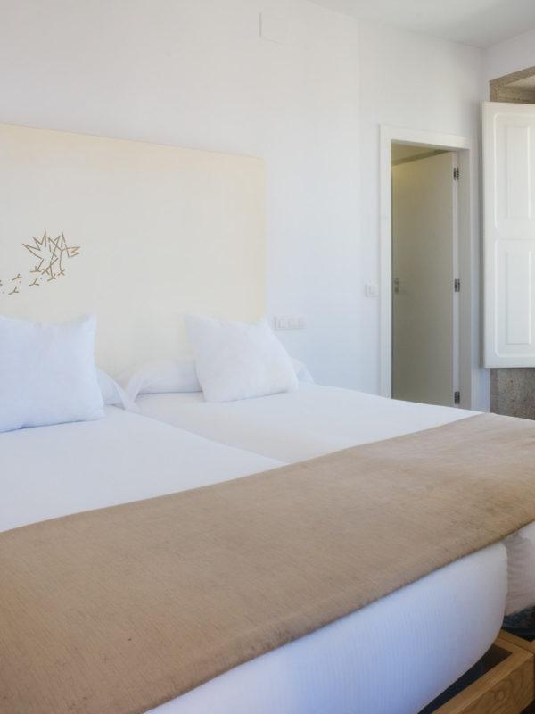Fotografía de interiores-habitación hotel Pazo de Altamira-Santiago de Compostela