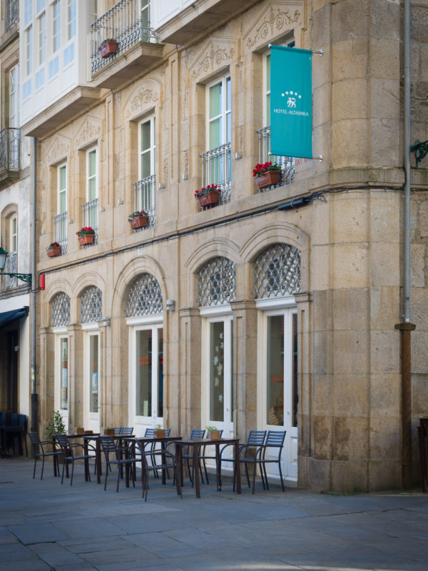 Fachada do hotel Altamira, Santiago de Compostela
