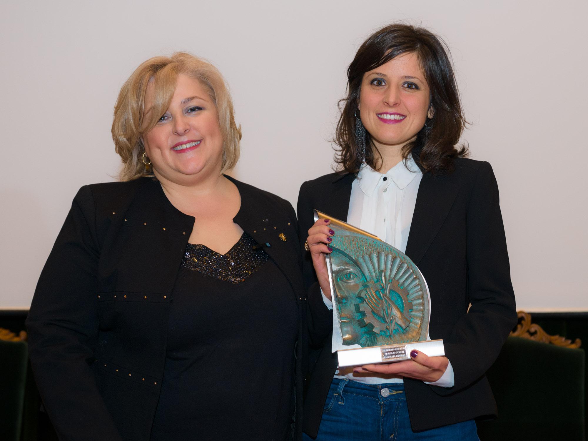 Fotografía da entrega do IV Premio estatal del trabajo Social-Pazo de Fonseca-Santiago de Compostela
